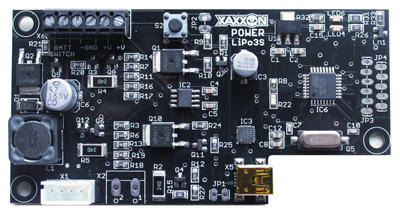 Xaxxon Power LiPo3S battery charging and power management PCB