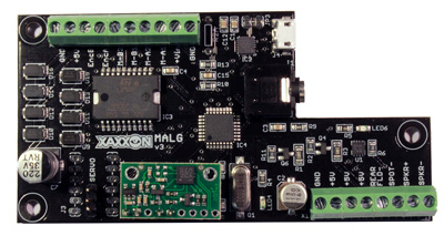 Xaxxon MALG Microcontroller PCB (Motors Audio Lights Gyro)